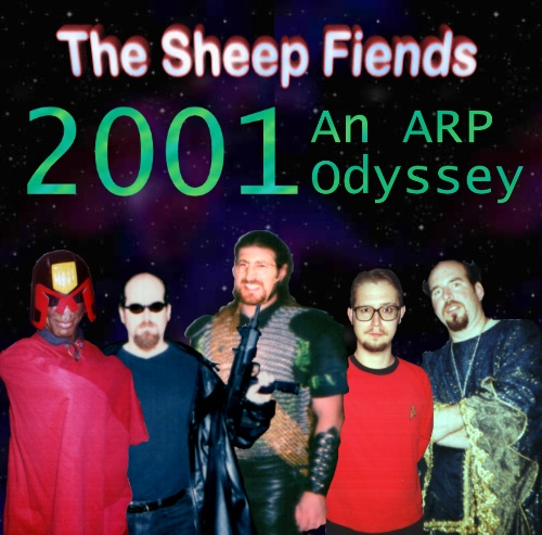 The Sheep Fiends 2001: An ARP Odyssey Album Art
