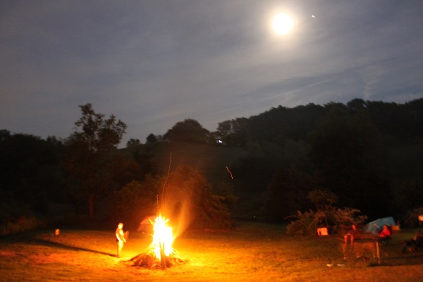 Fire and Moon
