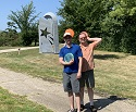 Mark and Ladd on frisbee